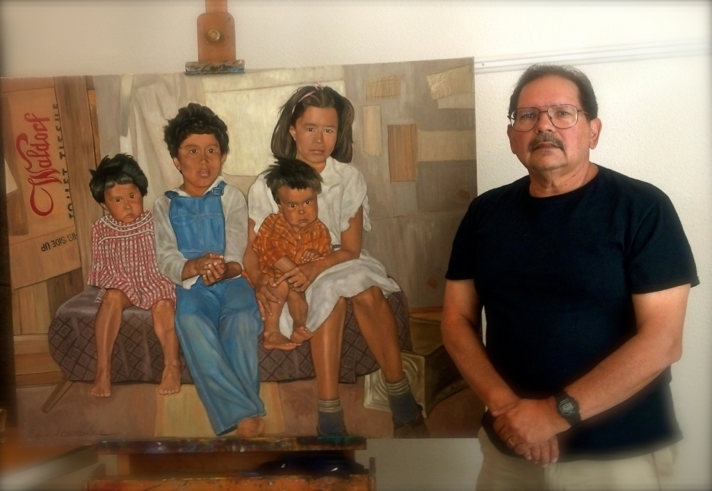Edward Gonzales in His Studio - Photography: Cristina Baccin